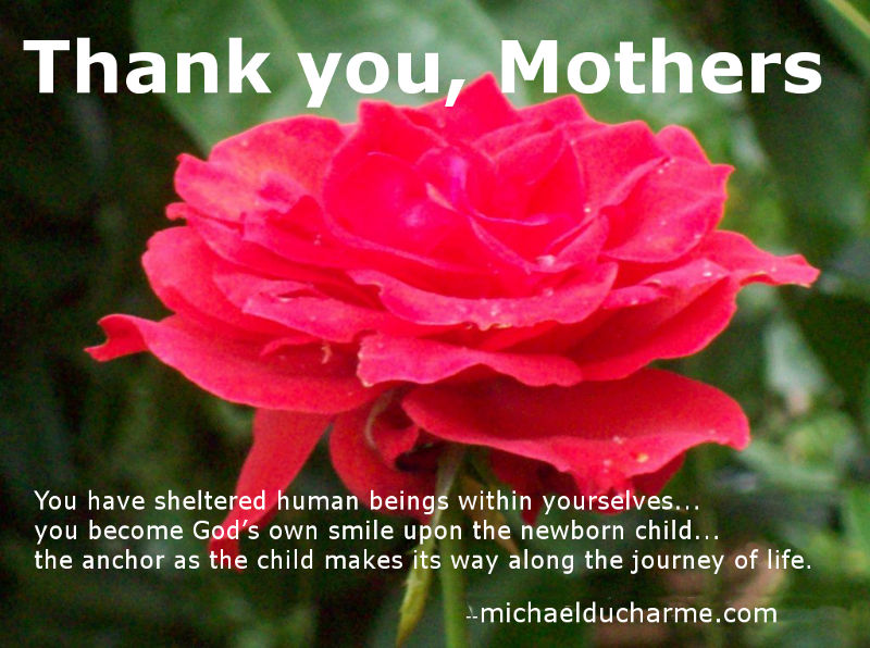Thank you, mothers