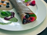 Raw crepe prepared by Veronica Saunders