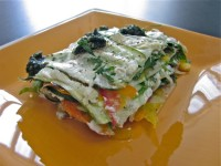 Raw lasagna prepared by Veronica Saunders