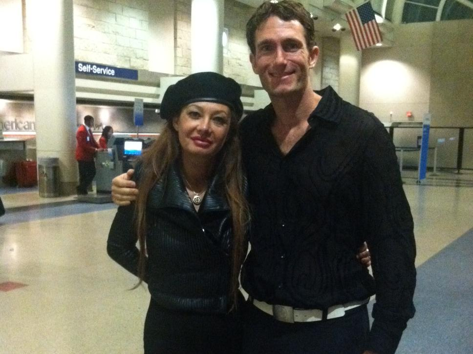 Veronica Saunders and Michael Ducharme in Los Angeles Airport