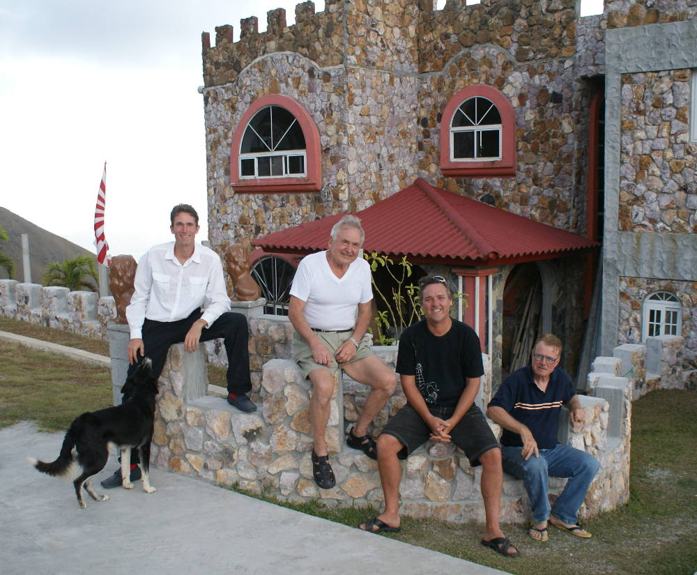 Michael, Tony, greg and Jack at the Castle