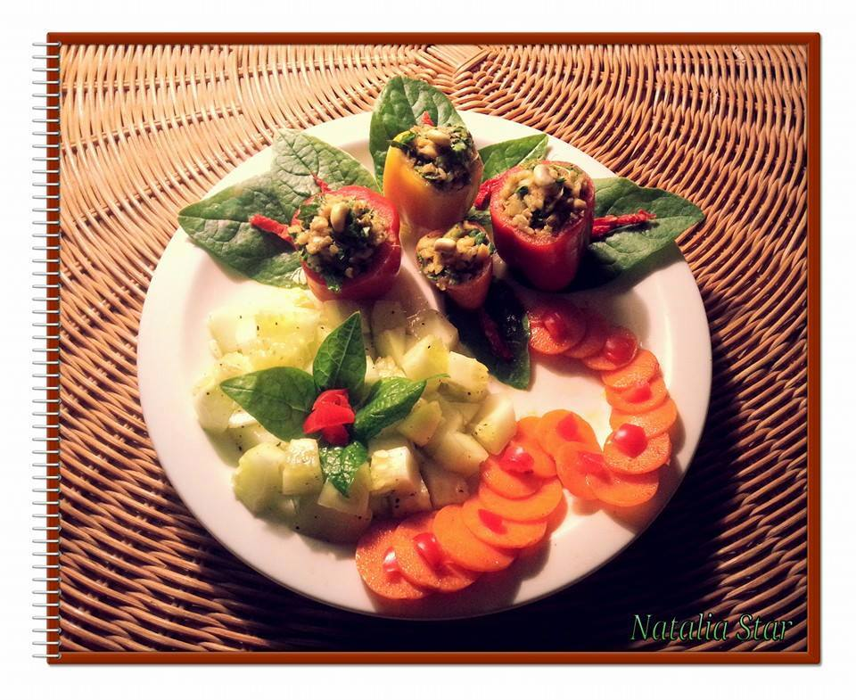 Flower Garden Salad and Raw Vegan Meal