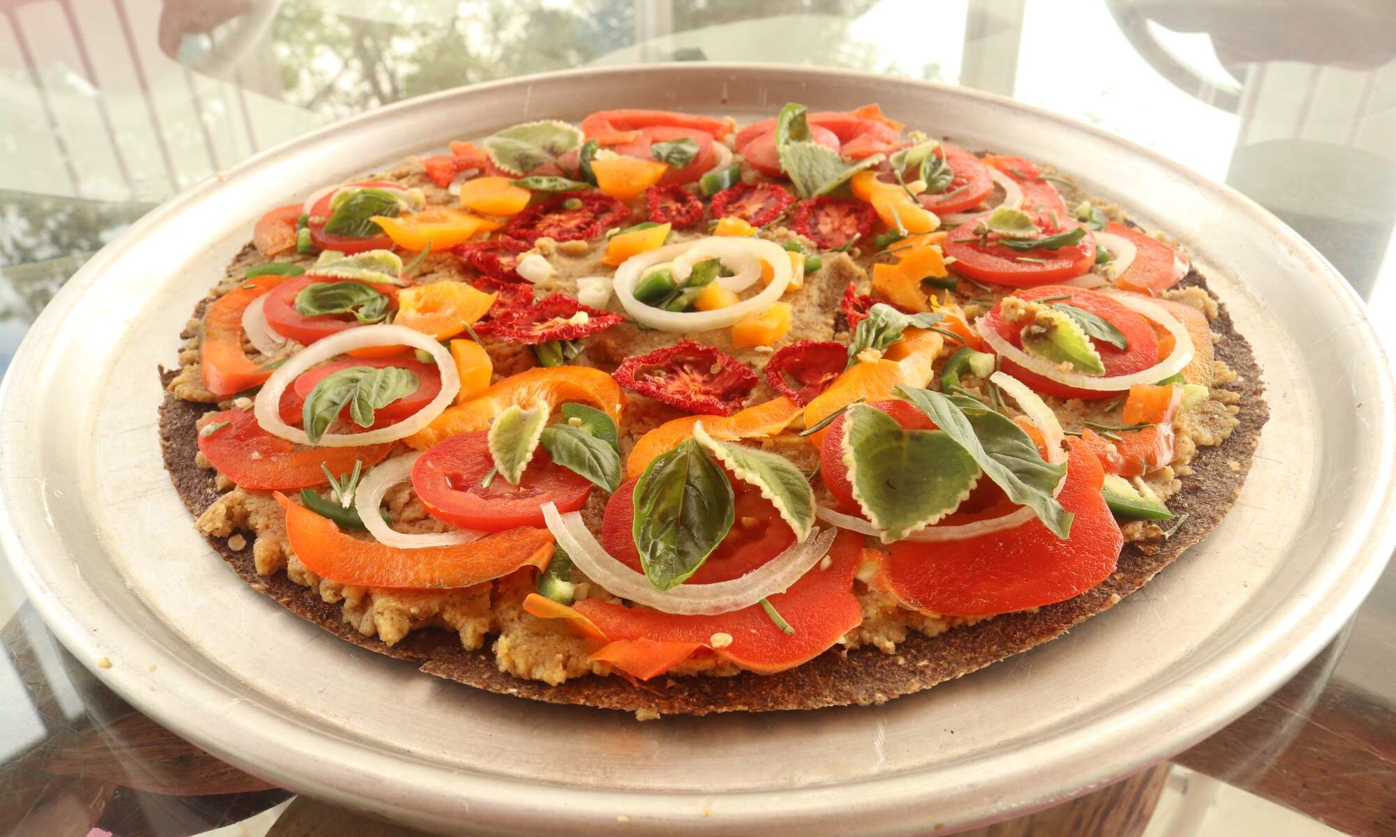 Raw vegan pizza by Michael Ducharme