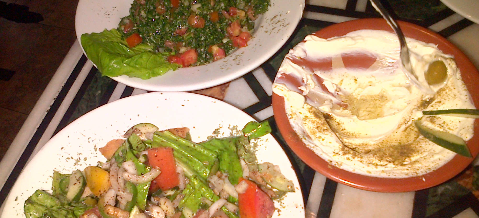 Beirut Panama Tabouleh Fatoush and Hummus